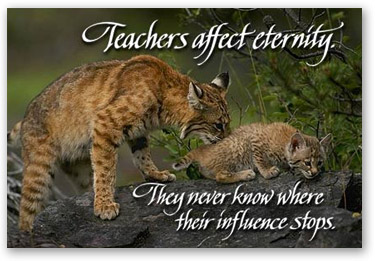 Teachers affect eternity