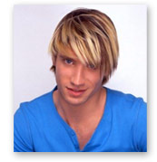 long blond-haired young man